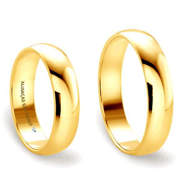 Alianças Casamento Tradicionais Ouro 5mm - A038