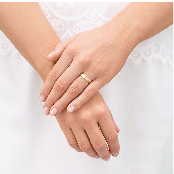 Alianças Casamento Ouro Acabamento Liso 4mm - A022