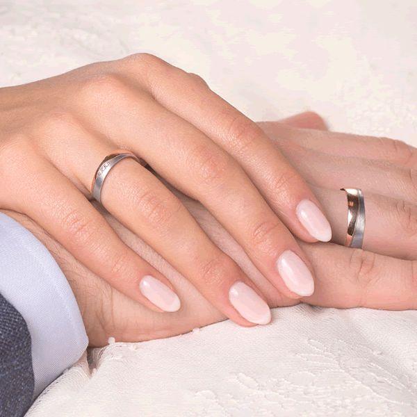 Alianças Casamento Compromisso Ouro Branco e Amarelo 5mm - A182