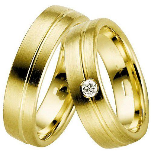 Alianças Casamento Ouro Acabamento Fosco e Liso 7,3mm - A3057