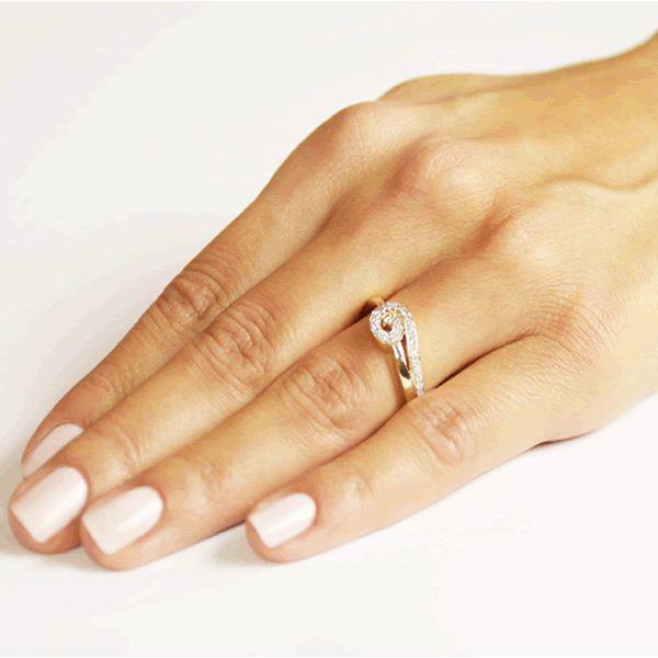 Anel Noivado Ouro com Diamantes 2,5mm - A216