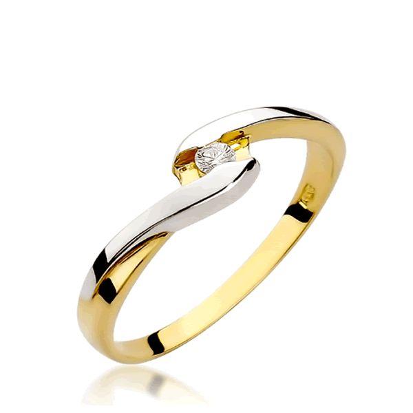 Anel Noivado Ouro Branco e Amarelo 18k 2mm - A236