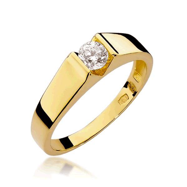 Anel Noivado Ouro 2,5mm com Diamante - A246