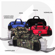 Bag Six Bolsa Térmica Bizon Camuflada Fitness C/ 6 Potes