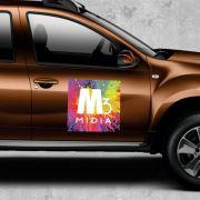 Imã Para Carro Personalizada - QUADRADO - Manta Magnética 0,8mm