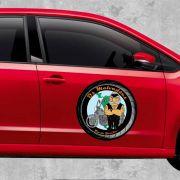 Imã Para Carro Personalizada - REDONDO - Manta Magnética 0,8mm