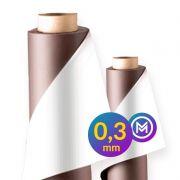 Rolo Imã Manta Magnética 0,3mm Adesivada - 62cm Largura