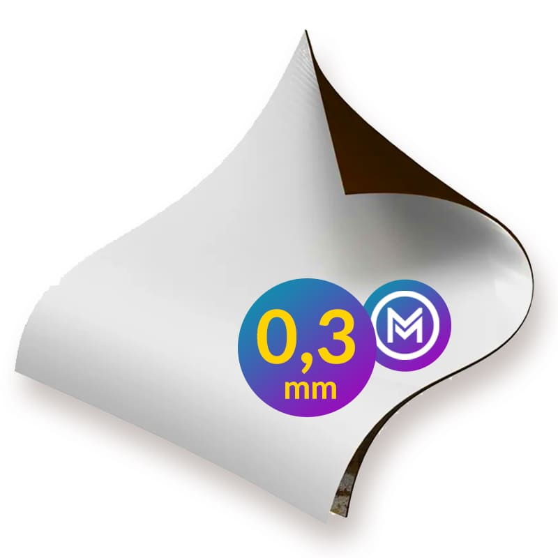 Folha Manta Magnética Imã Adesivada 0,3mm - A2 - 42x60cm  - INFINITY PLACE