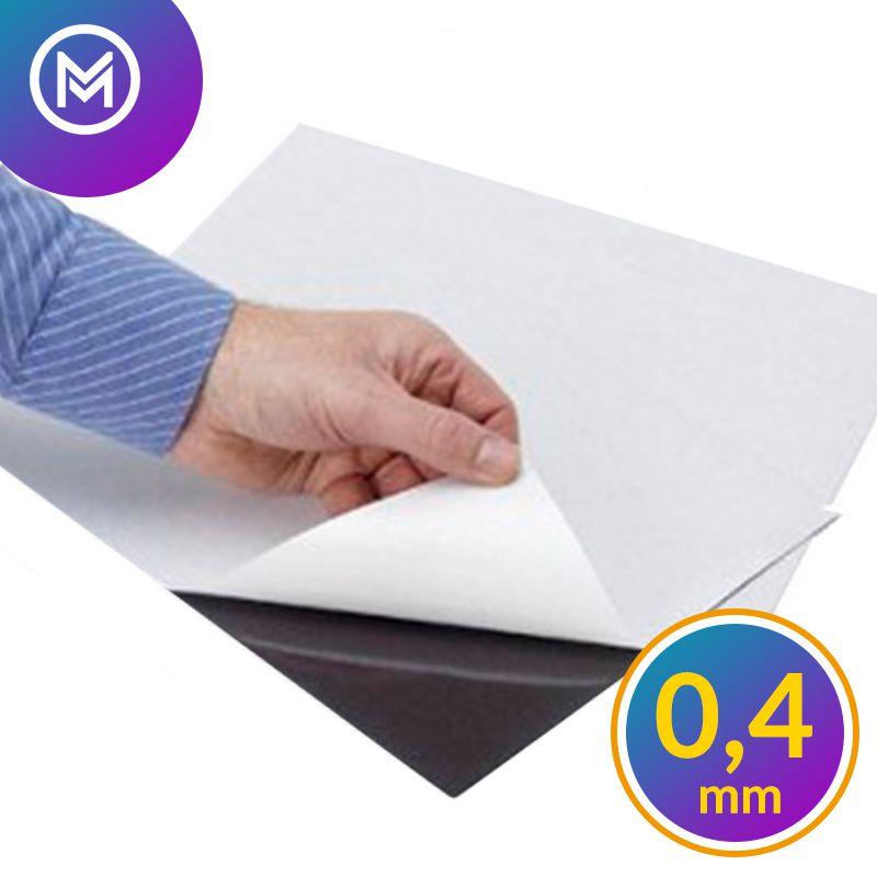 Folha Manta Magnética Imã Adesivada 0,4mm - A2 - 42x60cm  - INFINITY PLACE