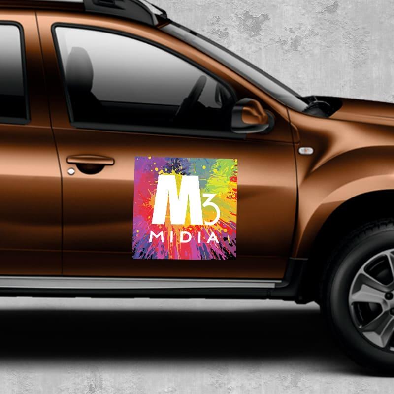 Imã Para Carro Personalizada - QUADRADO - Manta Magnética 0,8mm   - INFINITY PLACE