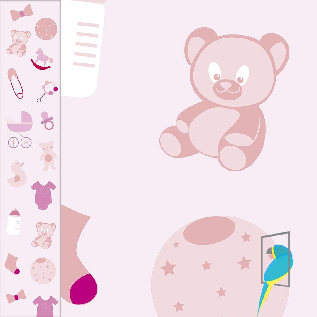 Papel De Parede Infantil Bebê  - INFINITY PLACE