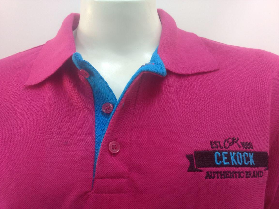 297d72d21 Camisa Gola Polo Masculina Brasão Pink Piquet Cekock - Cekock A ...