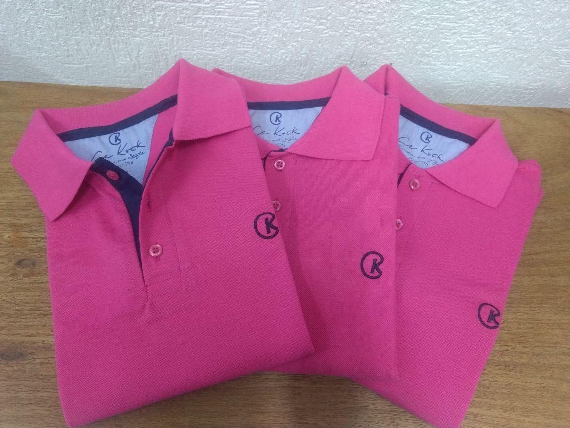 626c2cba6be7d Camisa Polo Masculina Pink Piquet Ck - Cekock A Marca do Lobo