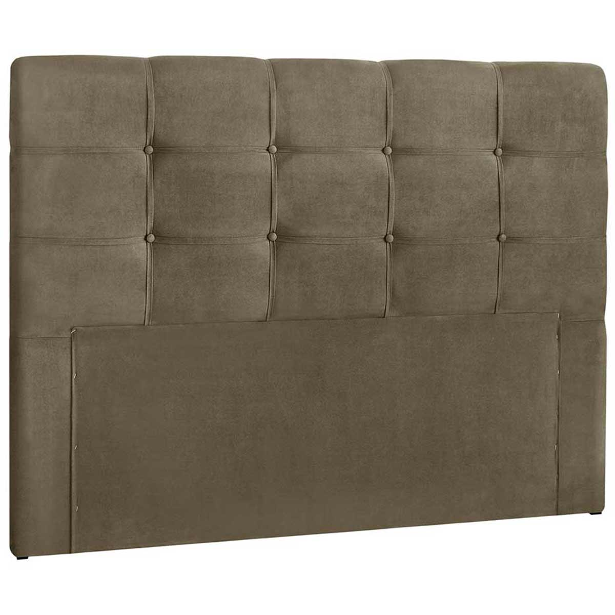 Cabeceira Clean Queen 160 cm Suede Taupe Simbal