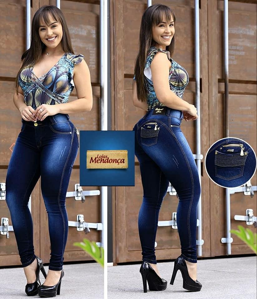eb997b7b2 Calça Jeans Feminina Estilo Modelo Pitibull