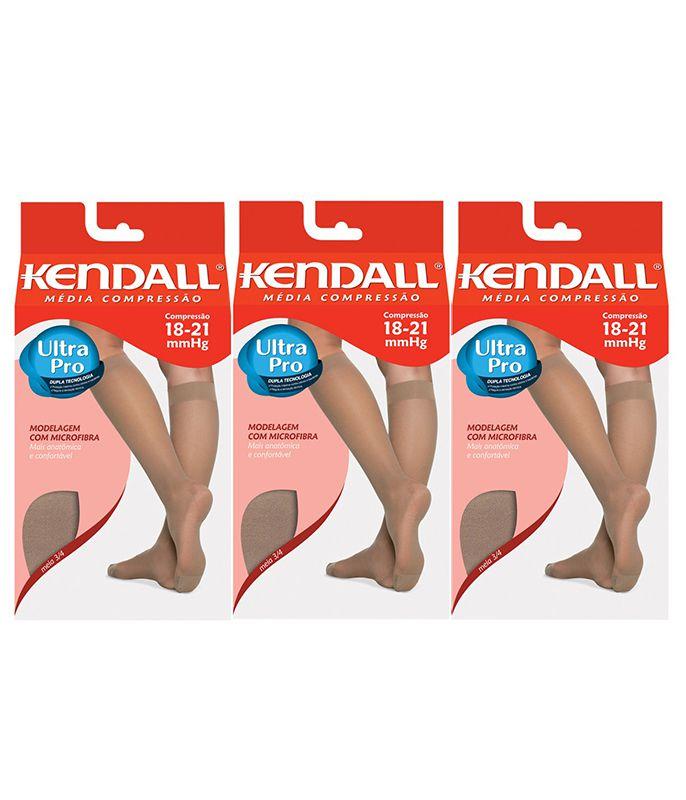 e2f37d34b Kit com 3 Meias 3 4 Kendall Média Compressão - WMODA