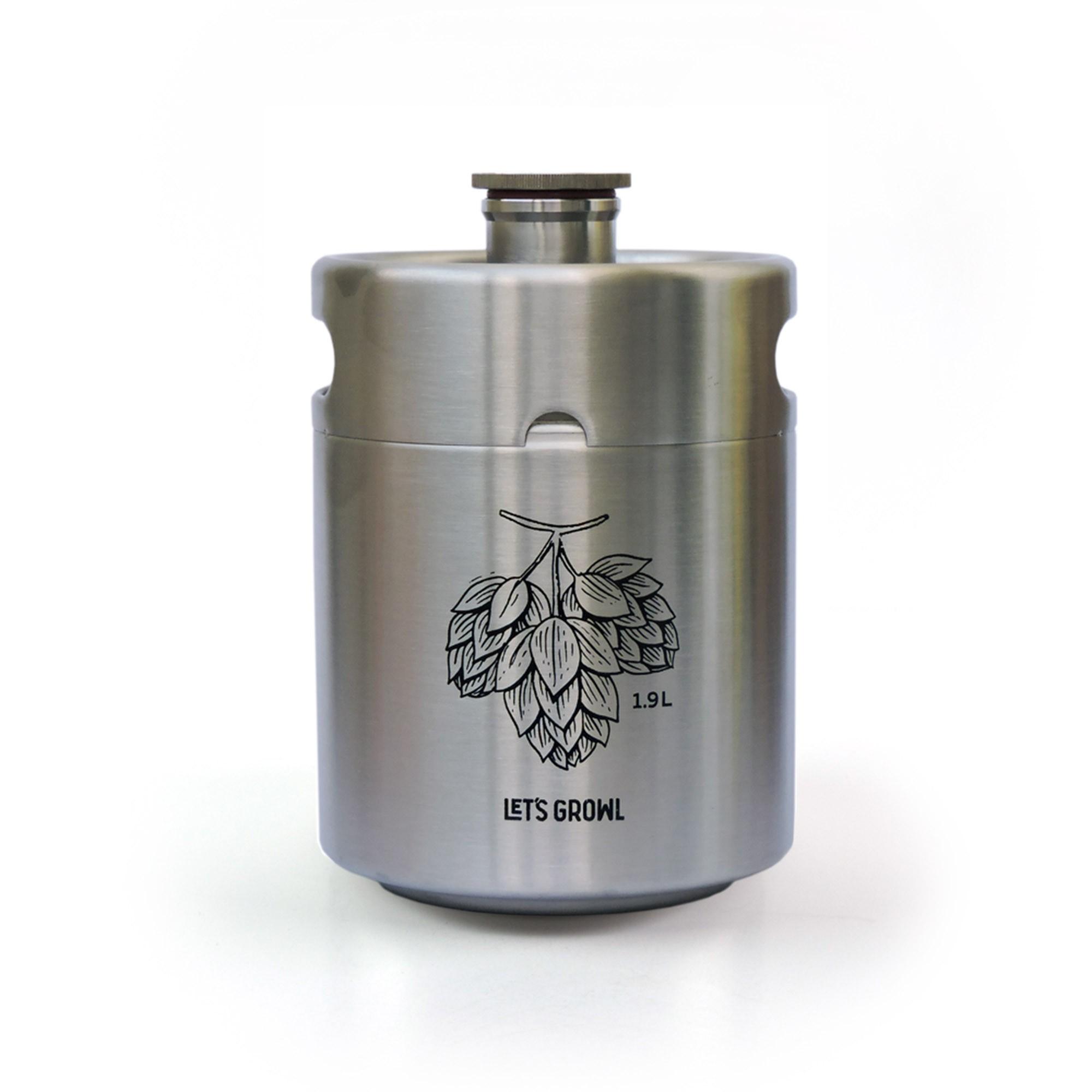 COMBO - Mini Keg 1.9L + Torneira + 5 CO2