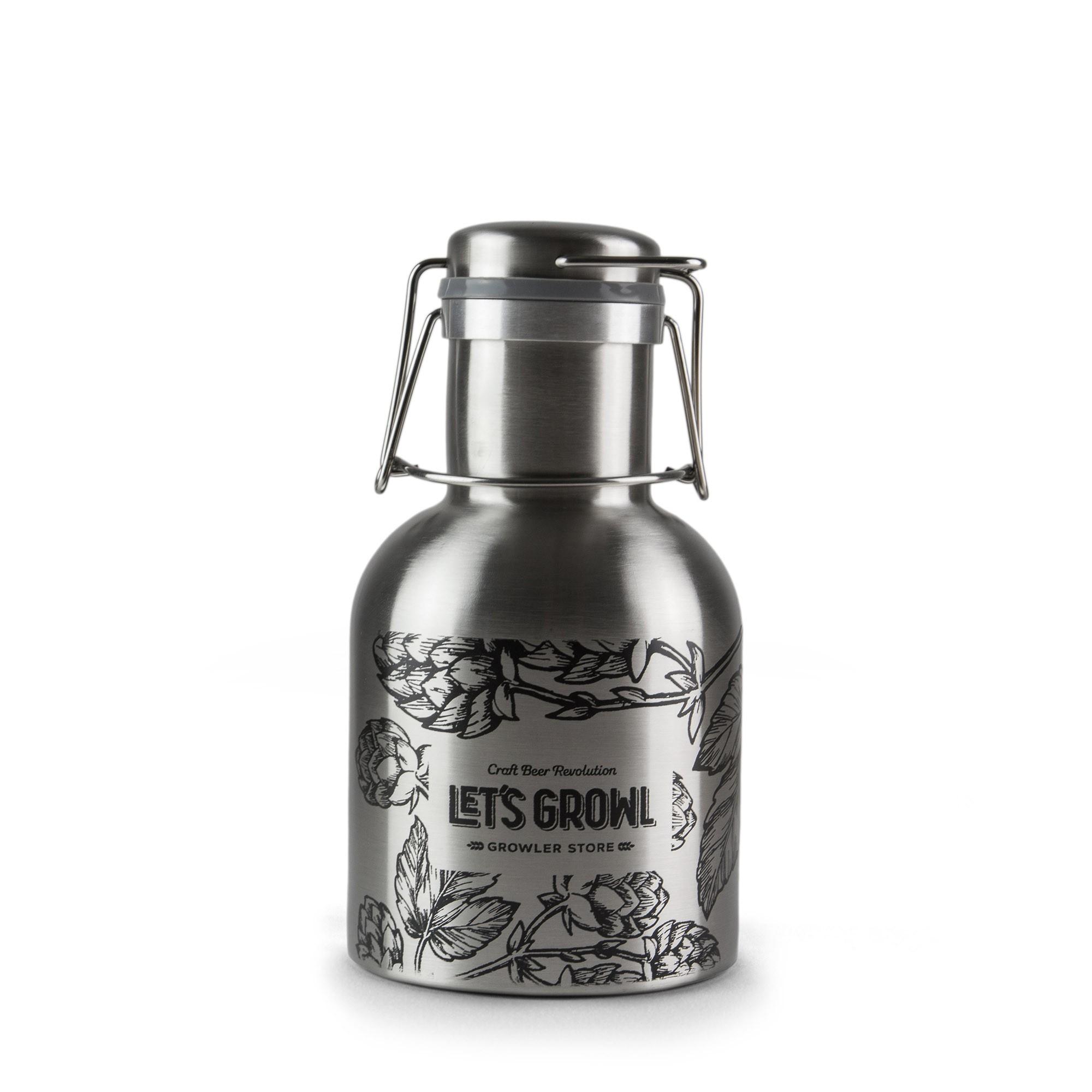 Growler Inox 1L - Lúpulos Let`s Growl