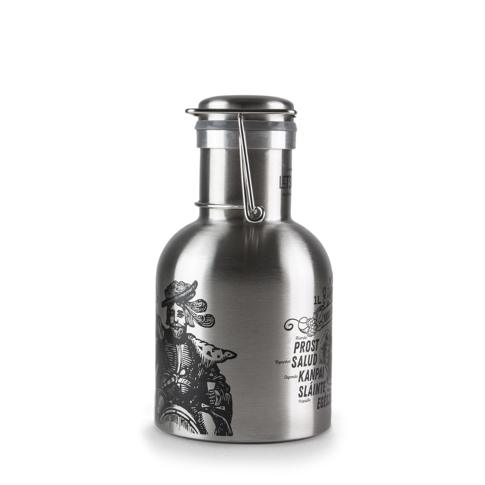 Growler Inox 1L - Um Brinde!