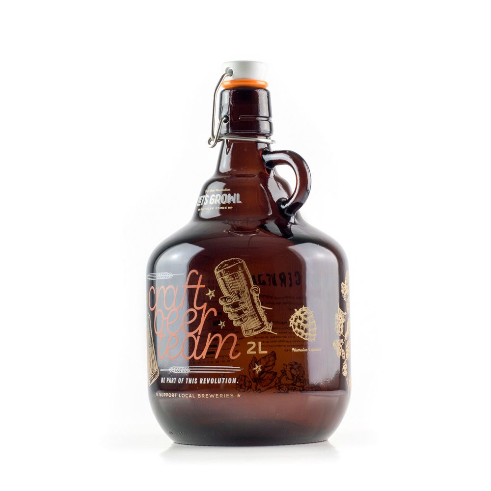 Growler Vidro 2L - Craft Beer Team