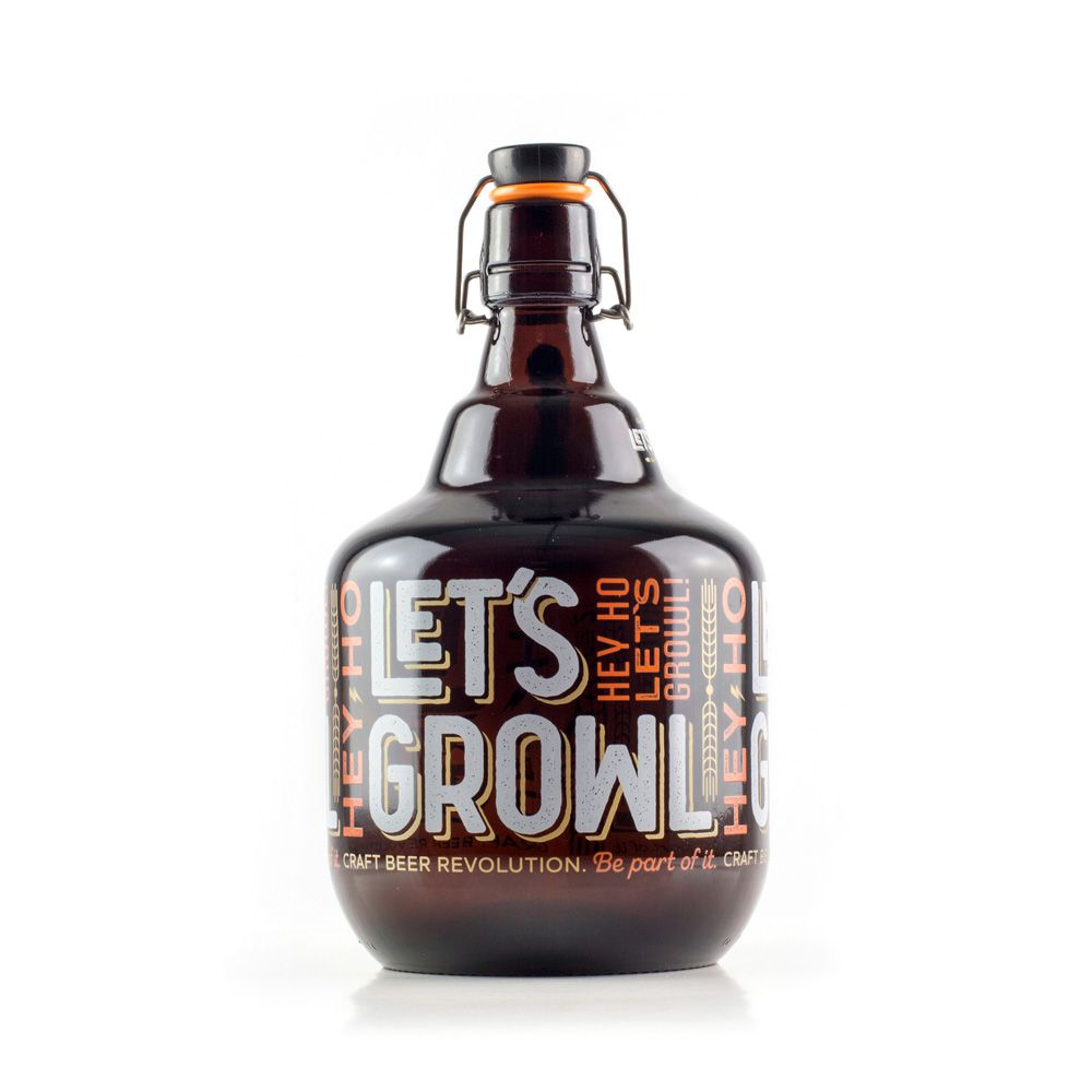 Growler Vidro 2L - Hey Ho!