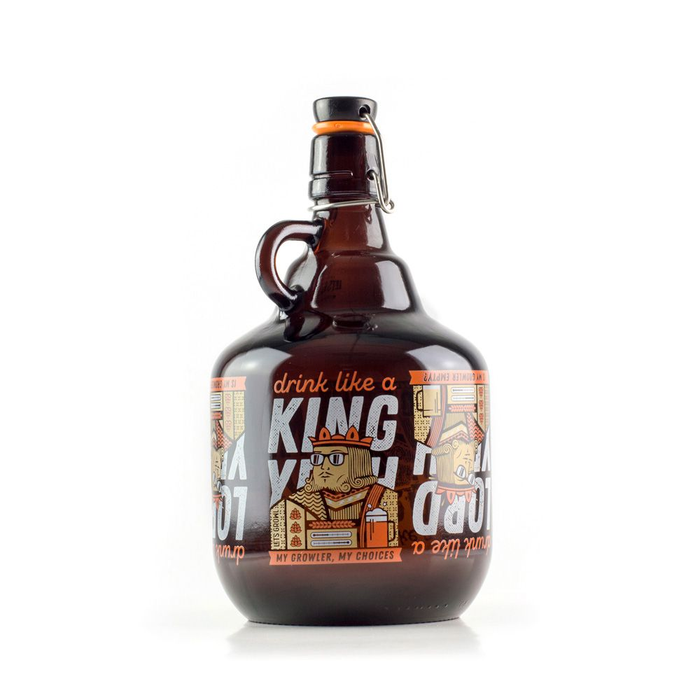Growler Vidro 2L - Like a King