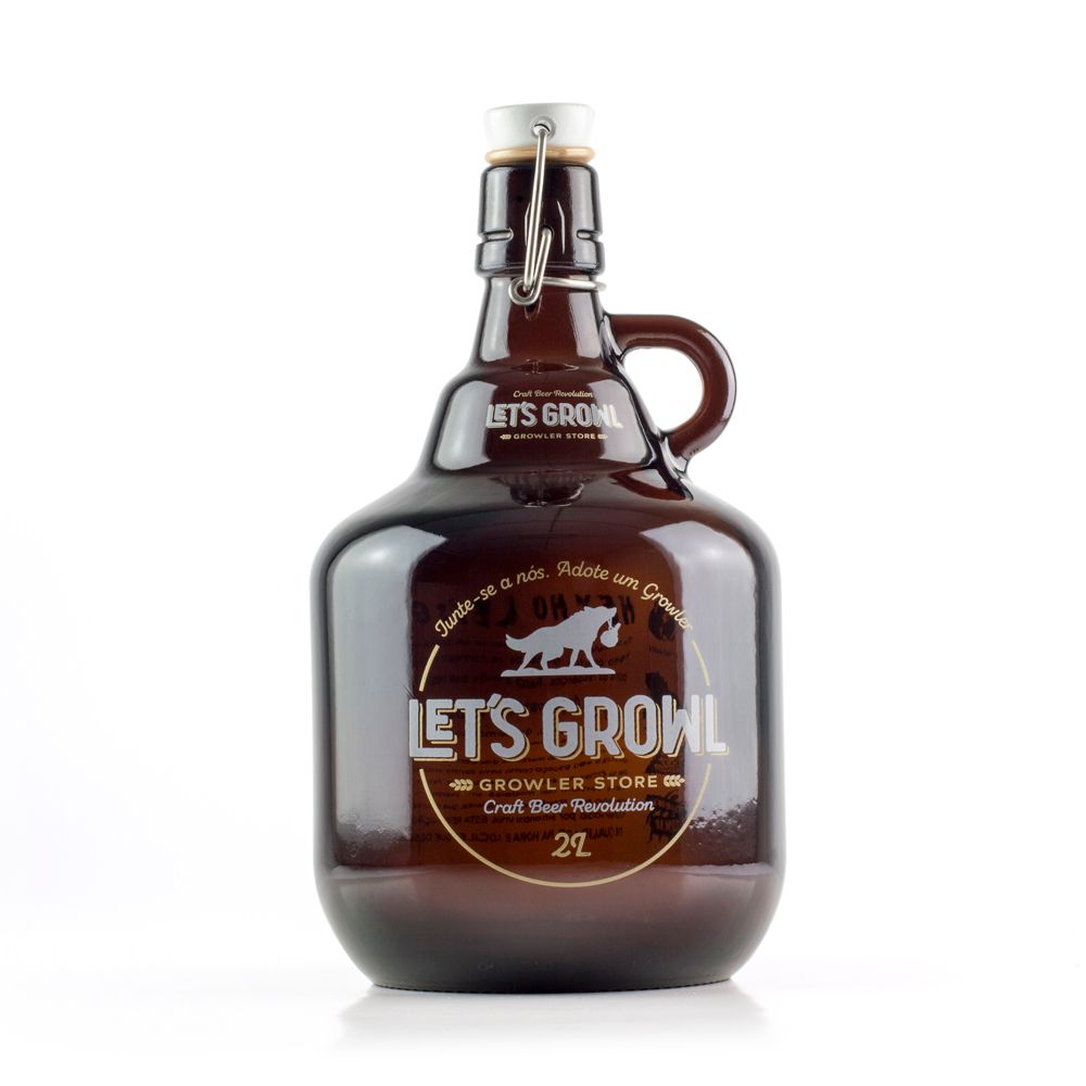 Kit Growler Vidro 2L + Bolsa Growler
