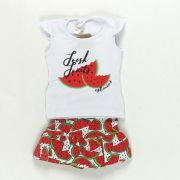 Conjunto Melancia Fresh Fruit Vermelho