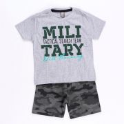 Conjunto Military Team Cinza