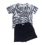 Conjunto Shorts E Camiseta Plantas