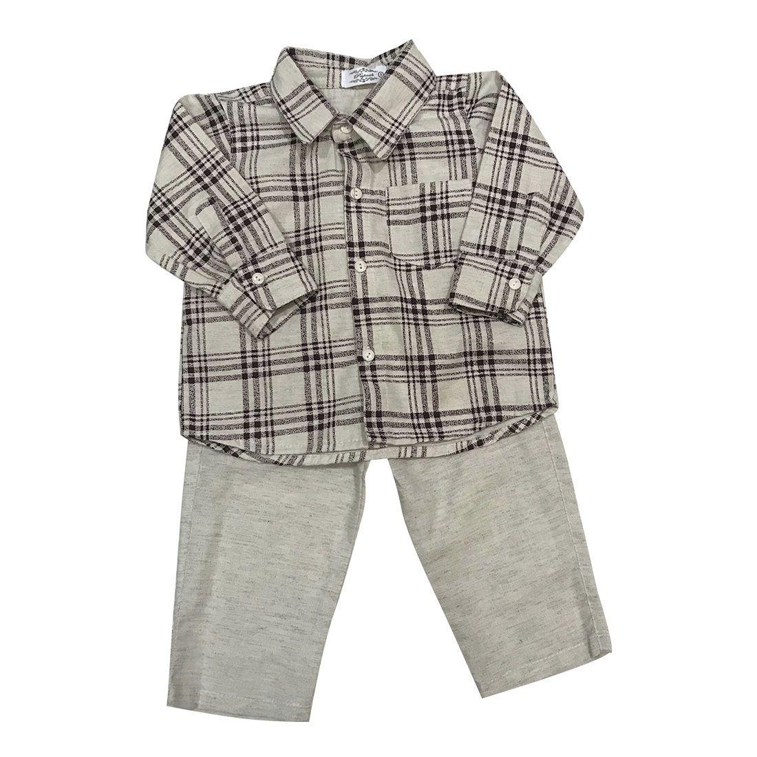Conjunto Camisa Xadrez E Calça