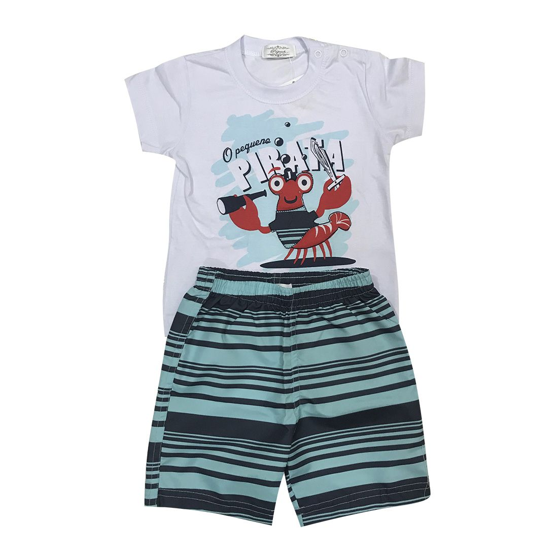 Conjunto Camiseta E Shorts O Pequeno Pirata