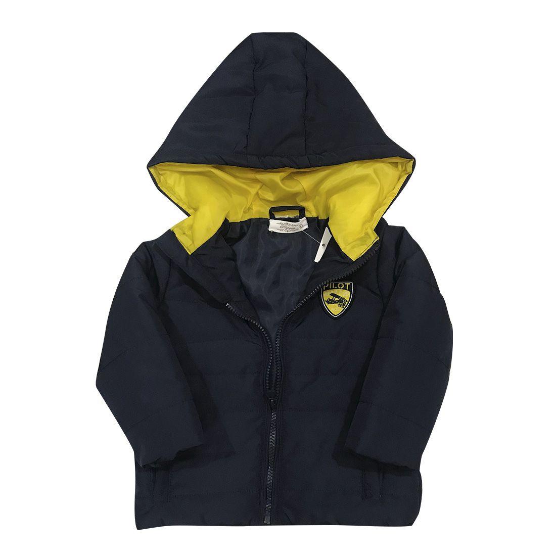 Japona Infantil Marinho E Amarela
