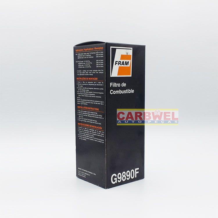 Filtro de Combustível GM CORSA AGILE COBALT MERIVA Fiat BRAVO IDEA LINEA PALIO... - FRAM G9890F