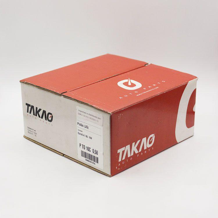 Jogo de Pistão de Motor Gasolina Toyota COROLLA 1.6 16v 2002 em diante... TAKAO PTO16C 050