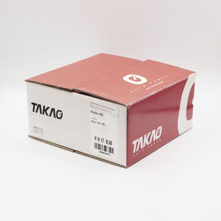 Jogo de Pistão do Motor Gasolina Honda CIVIC 1.6 16v 96 até 00... TAKAO PH17 050