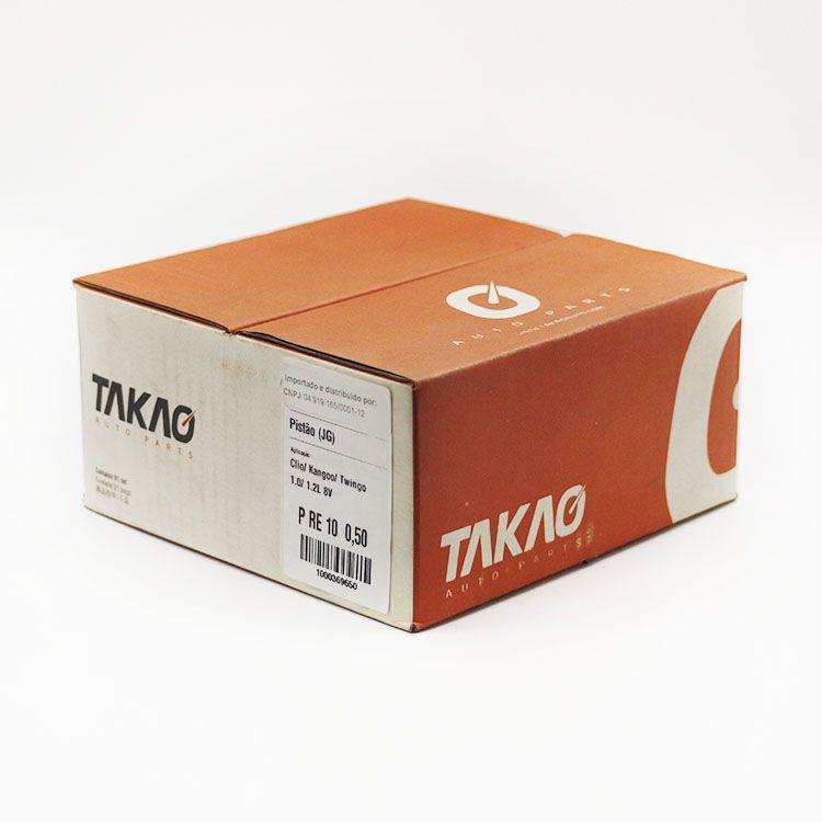 Jogo de Pistão do Motor Gasolina Renault CLIO TWINGO KANGOO 1.0 8V... TAKAO PRE10 050