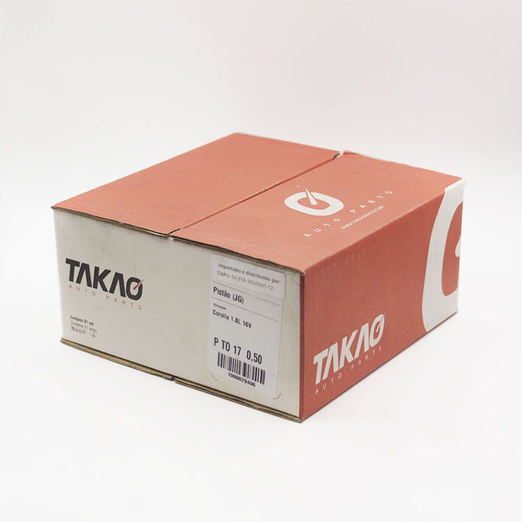 Jogo de Pistão do Motor Gasolina Toyota COROLLA 1.8 16V até 2001... TAKAO PTO17 050