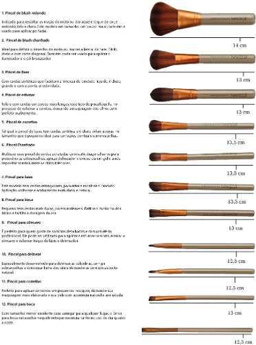 Kit Pincel Naked 3 com 12 Peças Cerdas Naturais