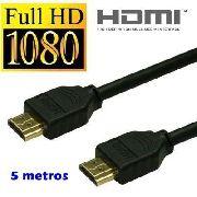Cabo Hdmi 3D 4K 1.4 Gold 1080p 5 metros