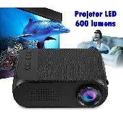 Mini Projetor Led 600 Lumens 800:1 YG-320 HDMI USB AV RCA