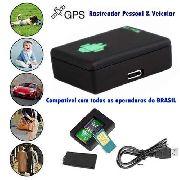 Rastreador Pessoal e Veicular GSM GPRS GPS Mini A8