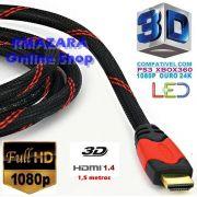 Cabo Hdmi 3D 4K 1.4 Gold 1080p 1,5 metros