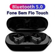 Fone de Ouvido TWS T2C Mini Bluetooth 4.2 com controle de gestos