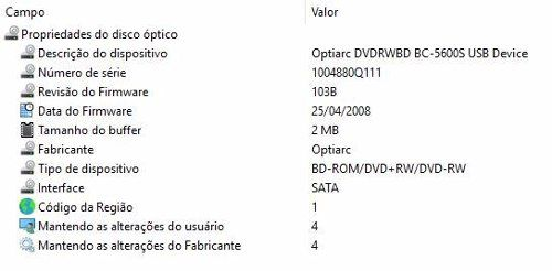 Gravador Cd Dvd + Leitor De Blu-ray Super Drive Usb 3.0