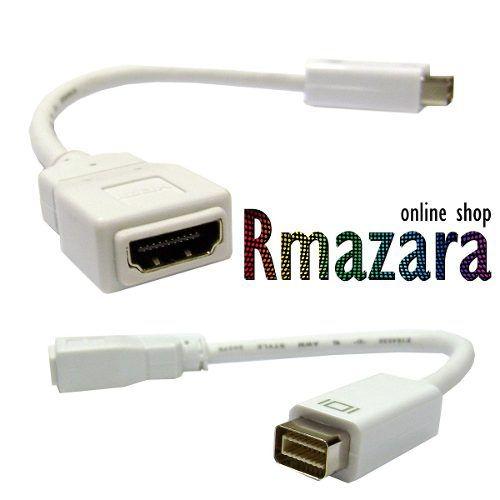 Cabo Adaptador Mini Dvi Para Hdmi Fêmea Macbook E iMac