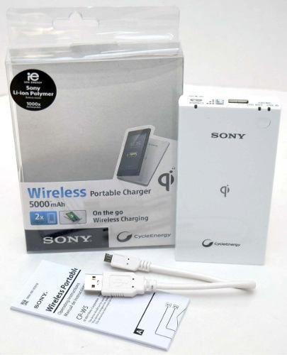 Carregador Bateria Externa Sony Wireless CP-W5 5000 mAh