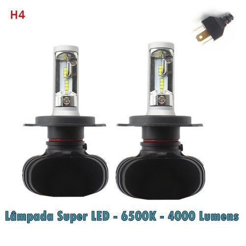 Lâmpada Super Led Automotiva H4 Crystal Eye Super Branca