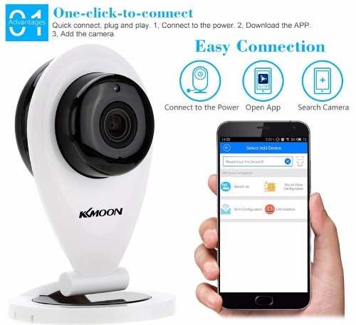 Mini Câmera IP Wifi Com Visão Noturna