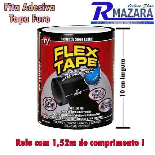 Fita Adesiva Flex Tape - 1,52 m x 10 cm